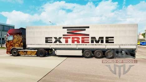 Extreme skin für Trailer für Euro Truck Simulator 2