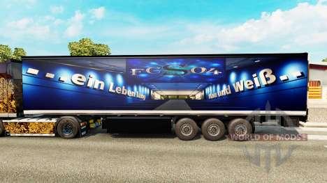 La peau FC Schalke 04 sur le semi pour Euro Truck Simulator 2