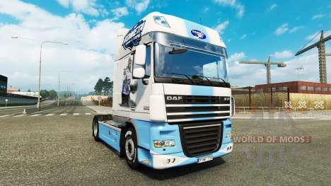 La peau HC Kometa Brno sur le tracteur DAF pour Euro Truck Simulator 2