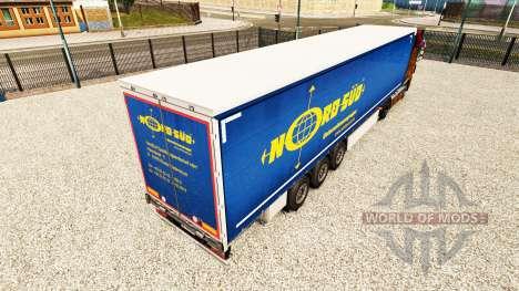Haut NordSued auf einen Vorhang semi-trailer für Euro Truck Simulator 2