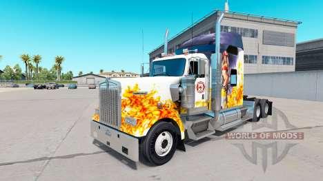 La peau du sapeur-Pompier sur le camion Kenworth pour American Truck Simulator