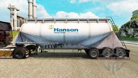 Haut Hanson Zement semi-trailer für Euro Truck Simulator 2