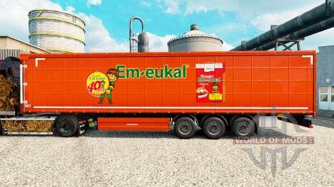 Haut Kinder Em-eukal, die auf semi für Euro Truck Simulator 2
