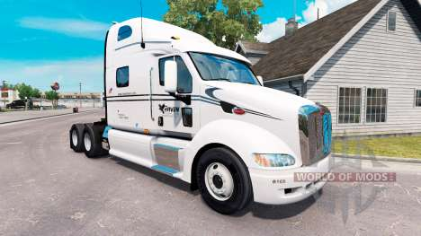 Raven skin für den truck Peterbilt 387 für American Truck Simulator