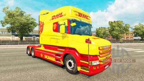 Haut DHL für Scania T truck für Euro Truck Simulator 2