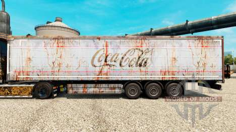 La peau de Coca-Cola sur rusty remorques pour Euro Truck Simulator 2