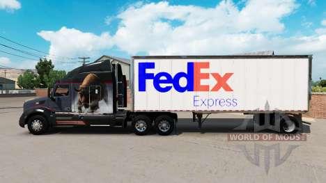 La peau FedEx petite remorque pour American Truck Simulator