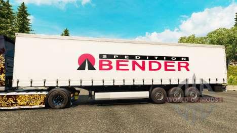La peau Spedition Bender sur semi pour Euro Truck Simulator 2