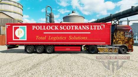 La Peau Pollock Scotrans Ltd. sur semi pour Euro Truck Simulator 2