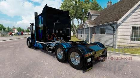 Skin Monster Energy Blau für den truck-Peterbilt für American Truck Simulator