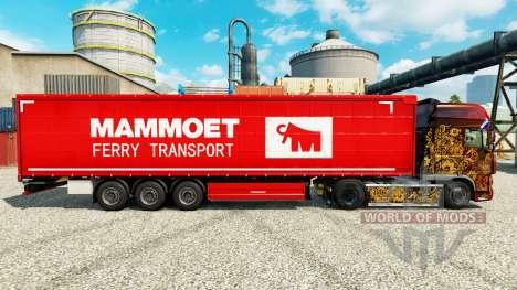 Mammoet de la peau pour les remorques pour Euro Truck Simulator 2
