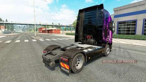 Purple Tiger skin für Volvo-LKW für Euro Truck Simulator 2