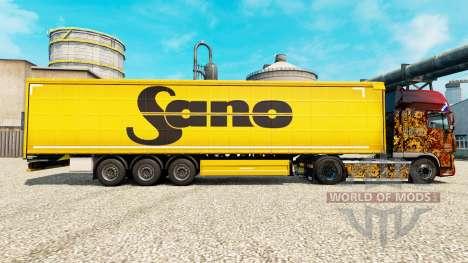 La peau Sano pour les remorques pour Euro Truck Simulator 2