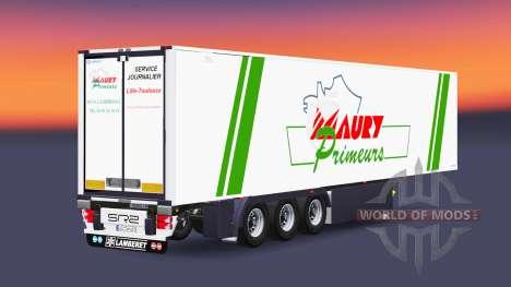 Semi-remorque frigorifique FR Maury Primeurs pour Euro Truck Simulator 2