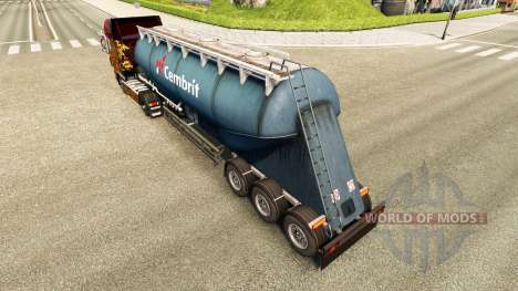 Skin Cembrit cement semi-trailer pour Euro Truck Simulator 2