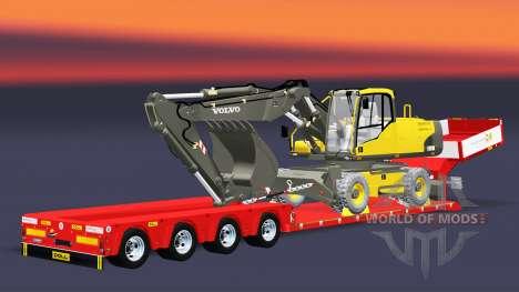 Lit bas au chalut de Poupée Vario avec excavatri pour Euro Truck Simulator 2