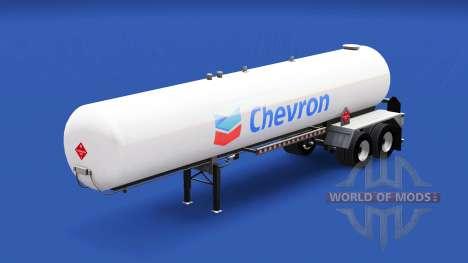 La peau de Chevron dans le réservoir de gaz semi pour American Truck Simulator
