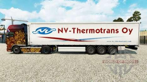 Haut NV-Thermotrans Oy auf einen Vorhang semi-tr für Euro Truck Simulator 2