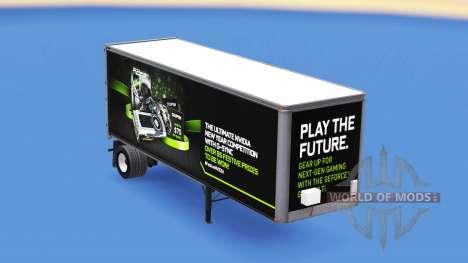 Haut NVidia GTX 980 Ti auf den trailer für American Truck Simulator