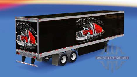 Skin Geladen Bleiben auf gekühlten Auflieger für American Truck Simulator