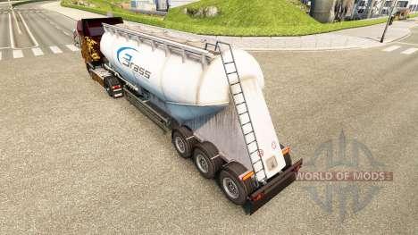 Haut Messing-Transport-Zement-Auflieger für Euro Truck Simulator 2