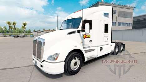 Haut Estes Express daycab Traktor auf Kenworth T für American Truck Simulator