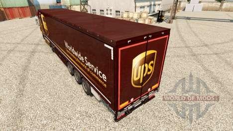 La peau United Parcel Service pour les remorques pour Euro Truck Simulator 2