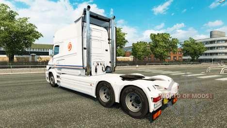 Transalliance de la peau pour Scania T camion pour Euro Truck Simulator 2
