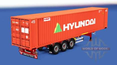 Auflieger-container-LKW mit unterschiedlichen La für American Truck Simulator