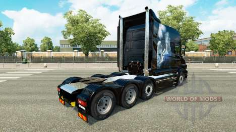 White Cheetah-Haut-für truck Scania T für Euro Truck Simulator 2