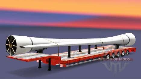 Bas de balayage avec les marchandises v3.2 pour Euro Truck Simulator 2