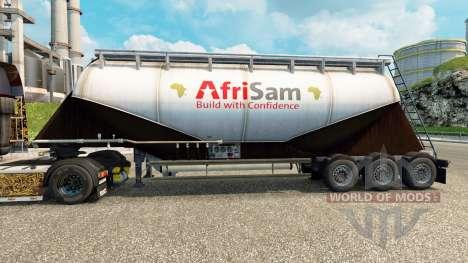 La peau AfriSam ciment semi-remorque pour Euro Truck Simulator 2