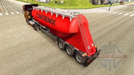 La peau Comcremix ciment semi-remorque pour Euro Truck Simulator 2