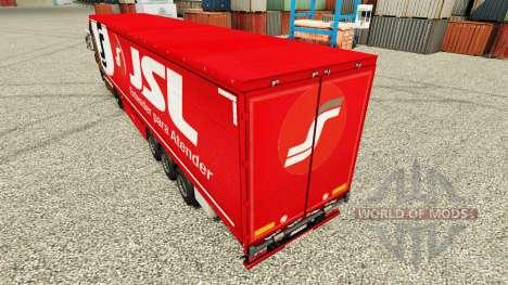 JSL Haut für Anhänger für Euro Truck Simulator 2