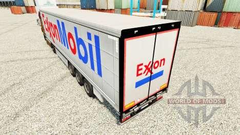 Exxon Mobil peau pour les remorques pour Euro Truck Simulator 2