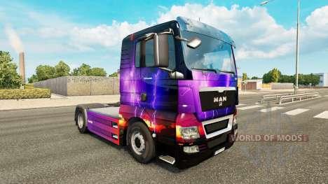 La peau de la Tempête sur tracteur HOMME pour Euro Truck Simulator 2