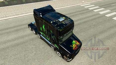 Skin Monster Energy v2 für LKW Scania T für Euro Truck Simulator 2