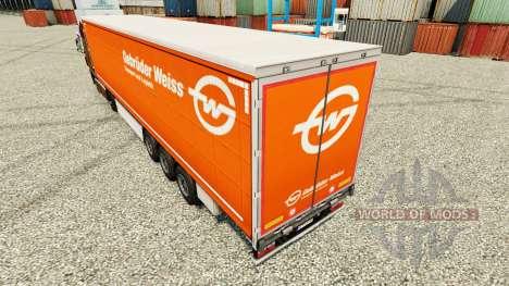 Skin Gebruder Blanc on semi pour Euro Truck Simulator 2