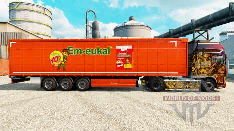 La peau Kinder Em-eukal sur semi pour Euro Truck Simulator 2
