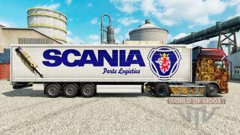 Skin Scania Parts Logistics für Anhänger für Euro Truck Simulator 2