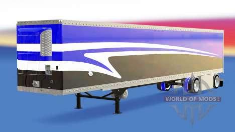 Auflieger-der Kühlschrank für American Truck Simulator