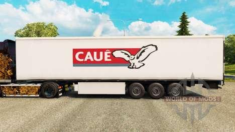 La peau Caue pour les remorques pour Euro Truck Simulator 2