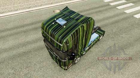 Bandes vertes de la peau pour Scania camion pour Euro Truck Simulator 2
