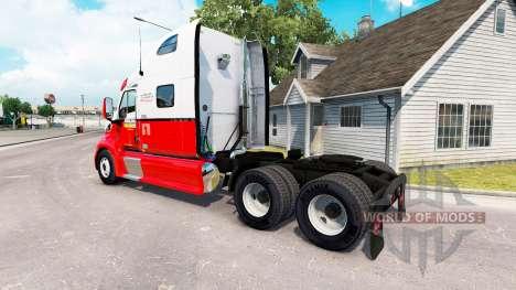 La peau Arnold Bros le tracteur Peterbilt 387 pour American Truck Simulator