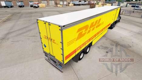 Haut DHL für Vorhangfassaden semi-trailer für American Truck Simulator