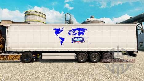 La peau de Danone pour les remorques pour Euro Truck Simulator 2