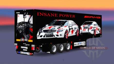 La semi-remorque-le réfrigérateur AMG Puissance pour Euro Truck Simulator 2