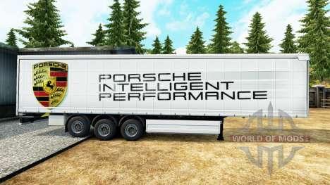 La peau Porsche pour les remorques pour Euro Truck Simulator 2