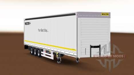 Rideau semi-remorque Wielton v1.1 pour Euro Truck Simulator 2