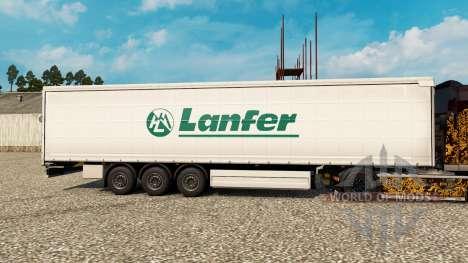 Haut Lanfer Logistik für Anhänger für Euro Truck Simulator 2